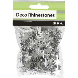 Rhinestones silver stjärnor,