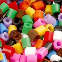 Rörpärlor, blandade färger