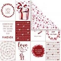 Designpapper kärlek och hjärtan
