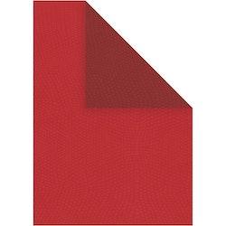 Strukturpapper röd