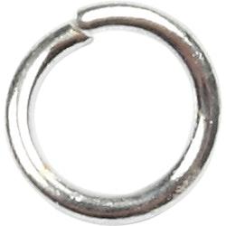 oringar, 0,7 mm, inv. mått 3 mm, försilvrad, 500st.,  4,4 mm