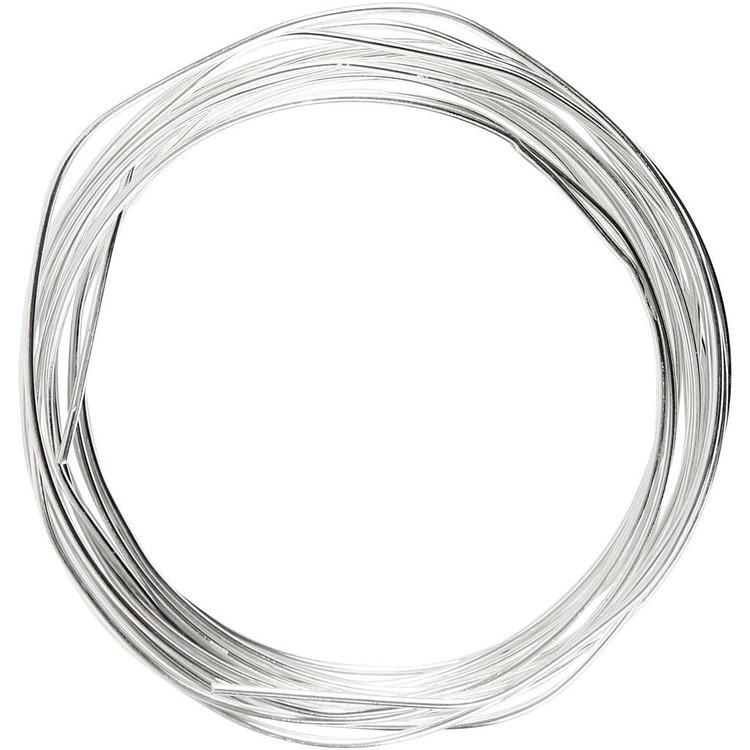 Försilvrad tråd, tjocklek 1,2 mm, 3 m