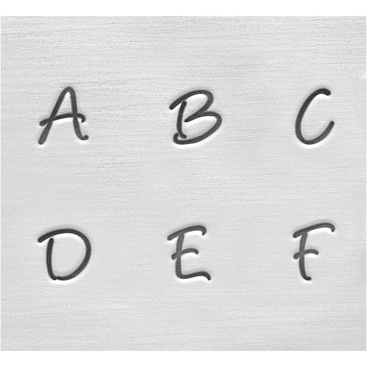 Prägelstämplar, stora bokstäver/versaler