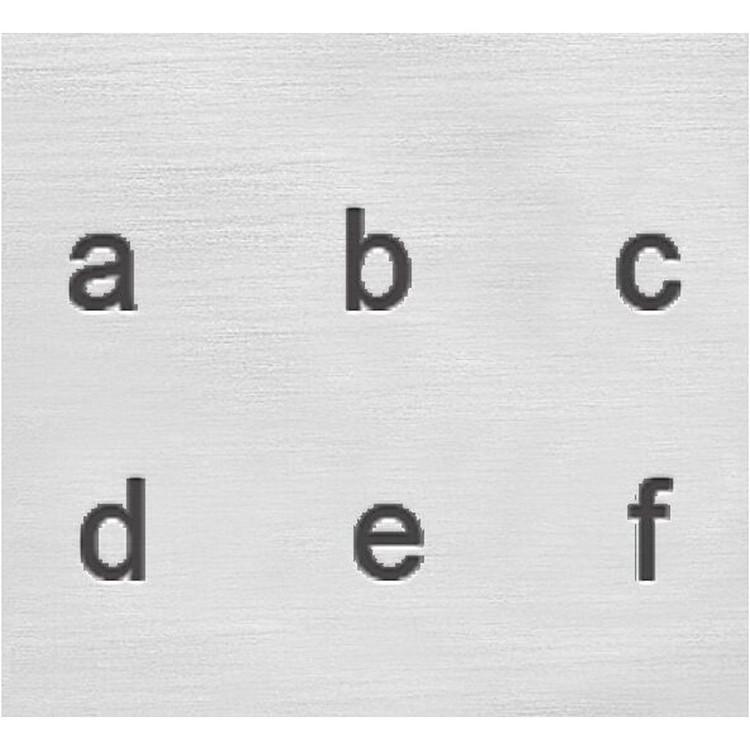 Prägelstämplar, små bokstäver/germaner