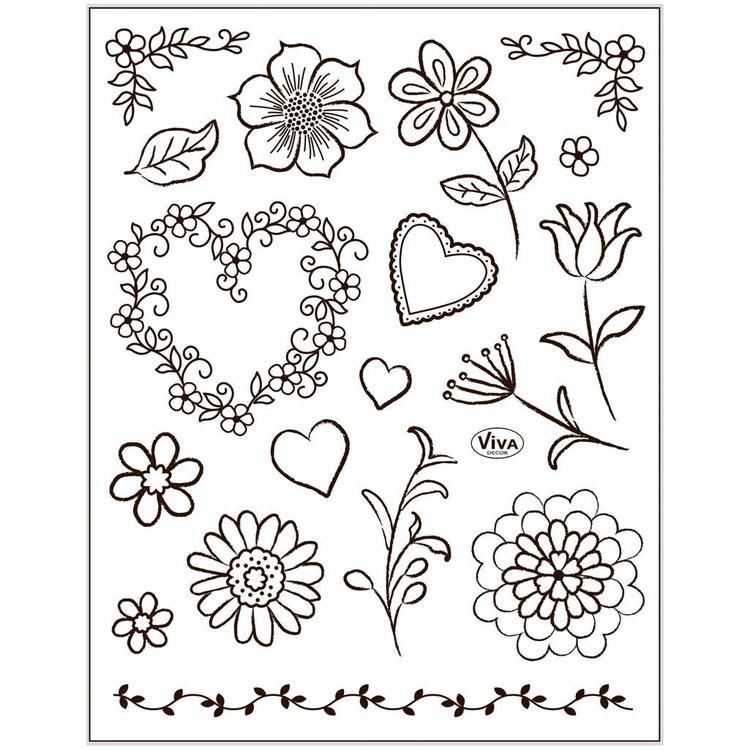 Stämpelmotiv, Blommor