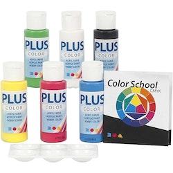 Hobbyfärg färgskola, primärfärger