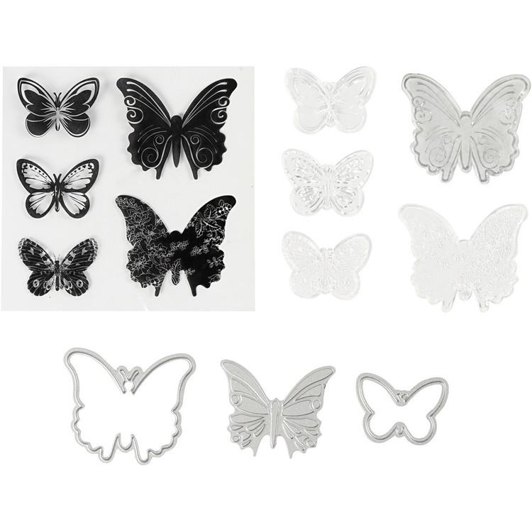 Stansar/Stämplar Fjäril