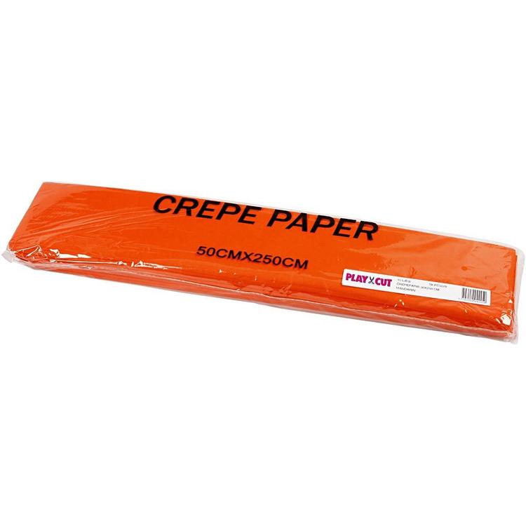 Kräppapper, orange