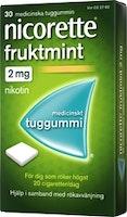 Nicorette Fruktmint tuggummi 2mg, 210 st