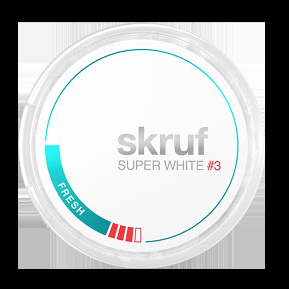 Skruf Super White Slim Fresh Stark