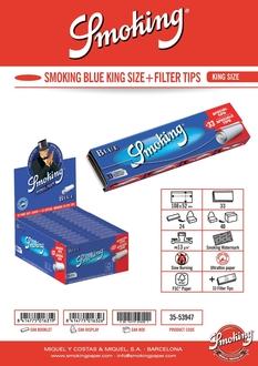 Smoking KS Blue +Tips 24-p