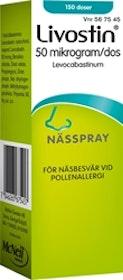 Livostin Nässpray 50 mikrog, 15 ml