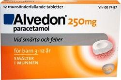 Alvedon Smälttablett, 250 mg, 10st