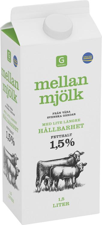 Mellanmjölk Längre Hållbarhet 1,5%