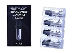 Silver Cig Coil/Atomizer E-WEST 4-p