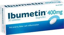 Ibumetin Tablett 400 mg, 30 st