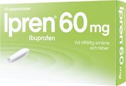 Ipren Suppositorier 60 mg, 10 st