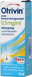 Otrivin Nässpray Barn 0,5 mg/ml, 10 ml