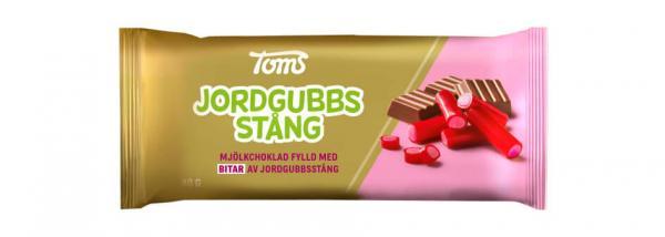 TOMS JORDGUBBSSTÅNG CHOKLAD 80G