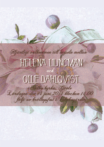 """Have I told you lately"" bröllopsinbjudan lila"