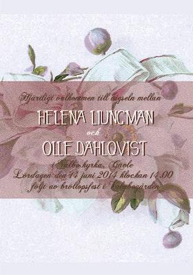 """""""Have I told you lately"""" bröllopsinbjudan lila"""
