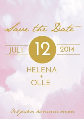 """""""RIBBON IN THE SKY"""" SAVE THE DATE ROSA"""