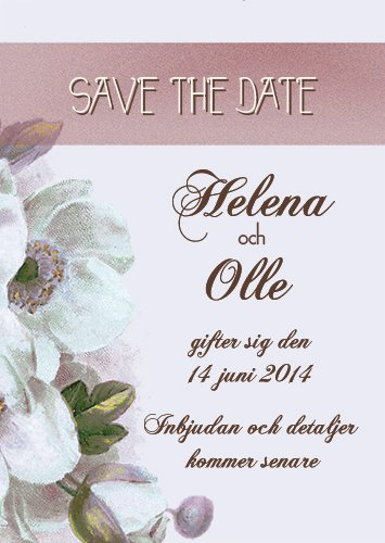 """HAVE I TOLD YOU LATELY"" SAVE THE DATE LILA"