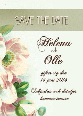 """""""HAVE I TOLD YOU LATELY"""" SAVE THE DATE GRÖN"""