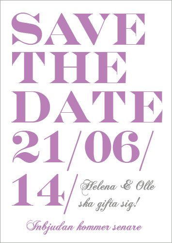 """WHEN I FALL IN LOVE"" SAVE THE DATE LILA"