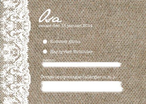 """At last"" OSA-kort säckväv"