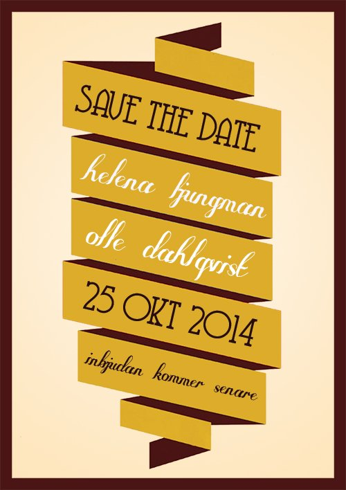 """I'll be there"" save the date gul"