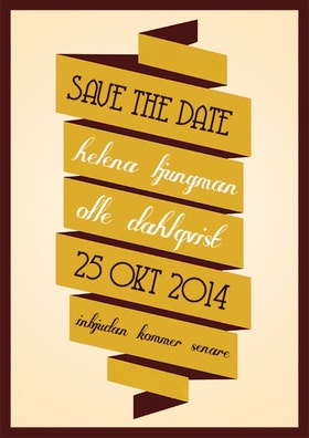 """""""I'll be there"""" save the date gul"""