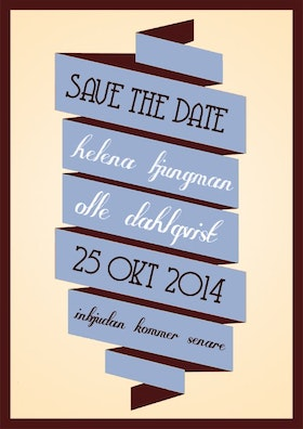 """""""I'll be there"""" save the date blå"""