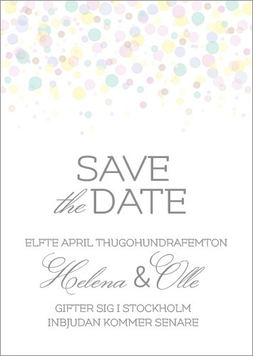"""Crazy Little Thing Called Love"" save the date pastell"