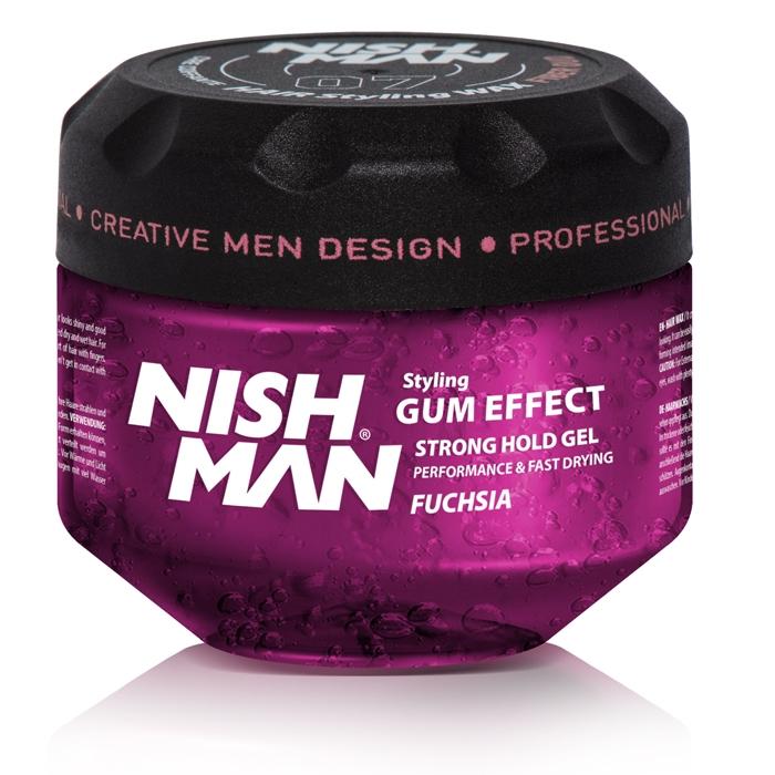 NISHMAN GUM EFFECT HAIR GEL FUCHSIA 300 ML