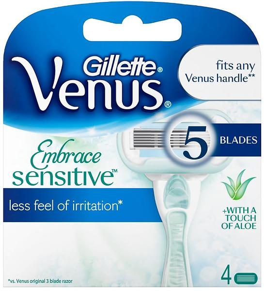 Gillette Venus Embrace Sensitive 5 Blad 4pack