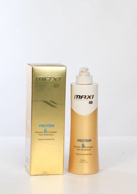 Maxi Brazilian Gold Keratin & Protein Hair Shampoo 500ml