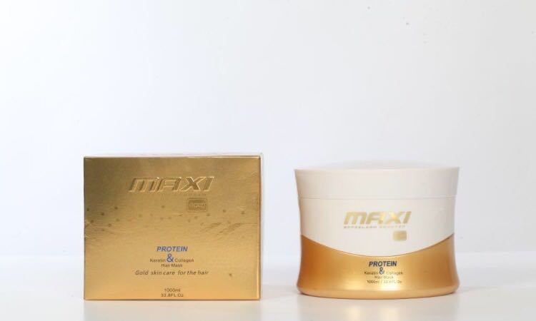 Maxi Brazilian Gold Keratin Protein Hair Mask 1000ml