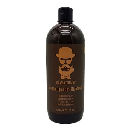 Barba Italiana Triple Action Shampoo Michaelangelo 1000ml