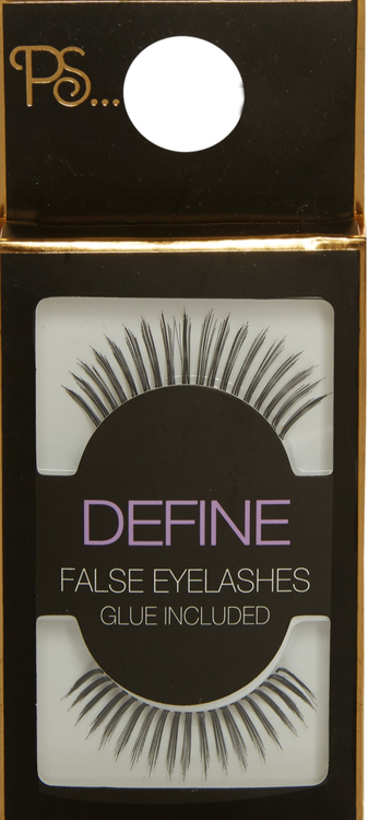 PS Define False Eyelashes With Glue