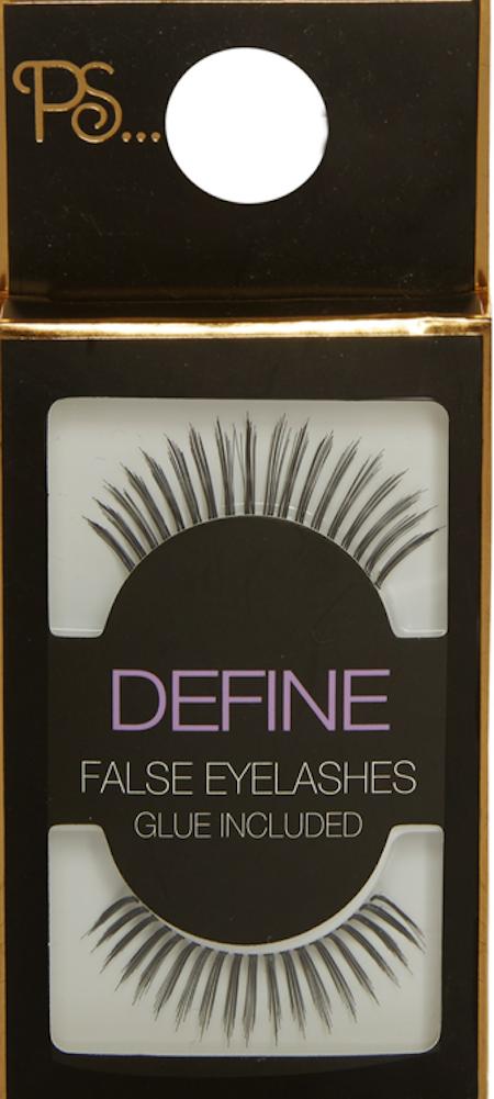 PS Define False Eyelashes With Glue