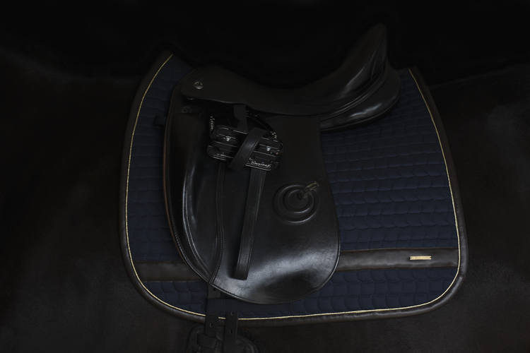 LEATHER EDGE NAVY DRESSAGE