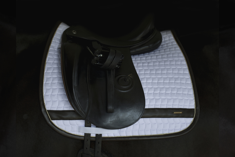 LEATHER EDGE WHITE DRESSAGE