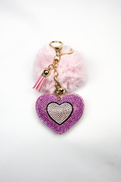 PINK POM POM HEART