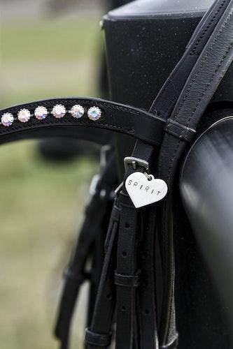 HORSE CHARM SILVER HEART 2020