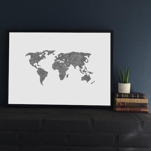 Världen -tillsammans starka