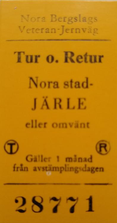 Premiären - Ångtåg Nora - Järle