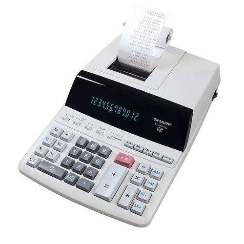 SHARP Kalkylator EL2607PGGYSE