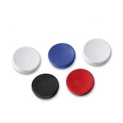 Magnetknapp Actual, sorterade färger, 30mm, 5/fp