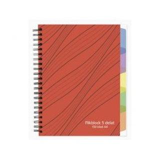Anteckningsbok A4 70g 200 blad med 10 avdelare, spiral